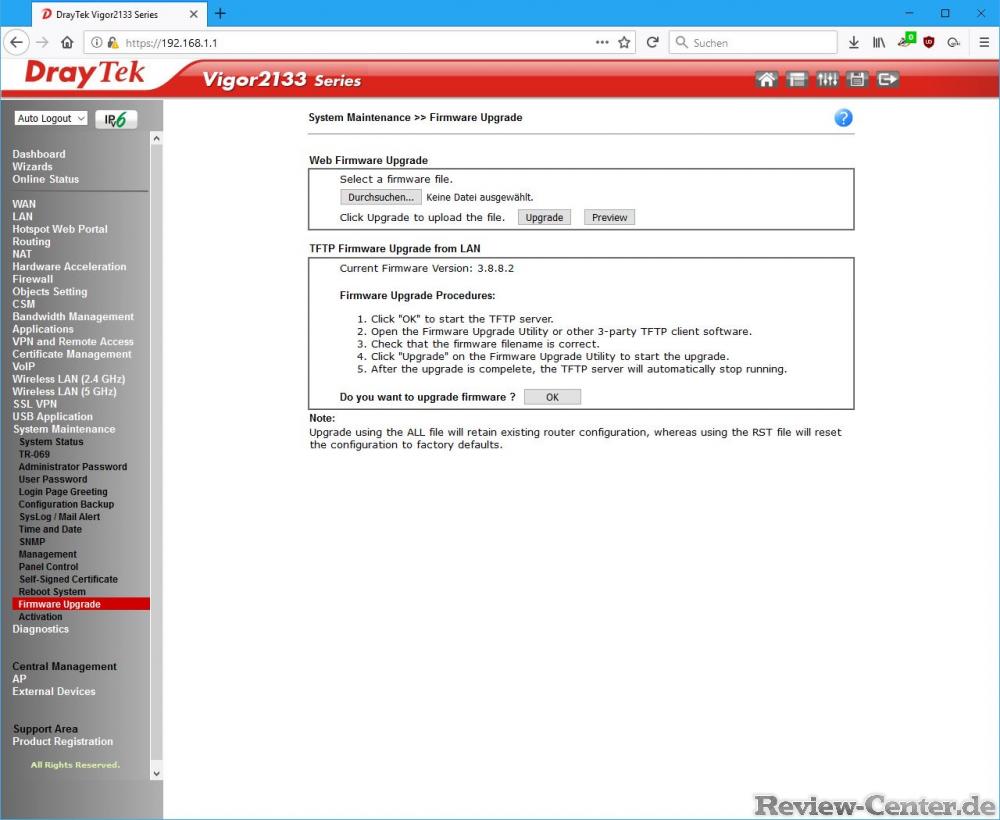 Inbetriebnahme des Routers und Firmwareupdate - Seite 6