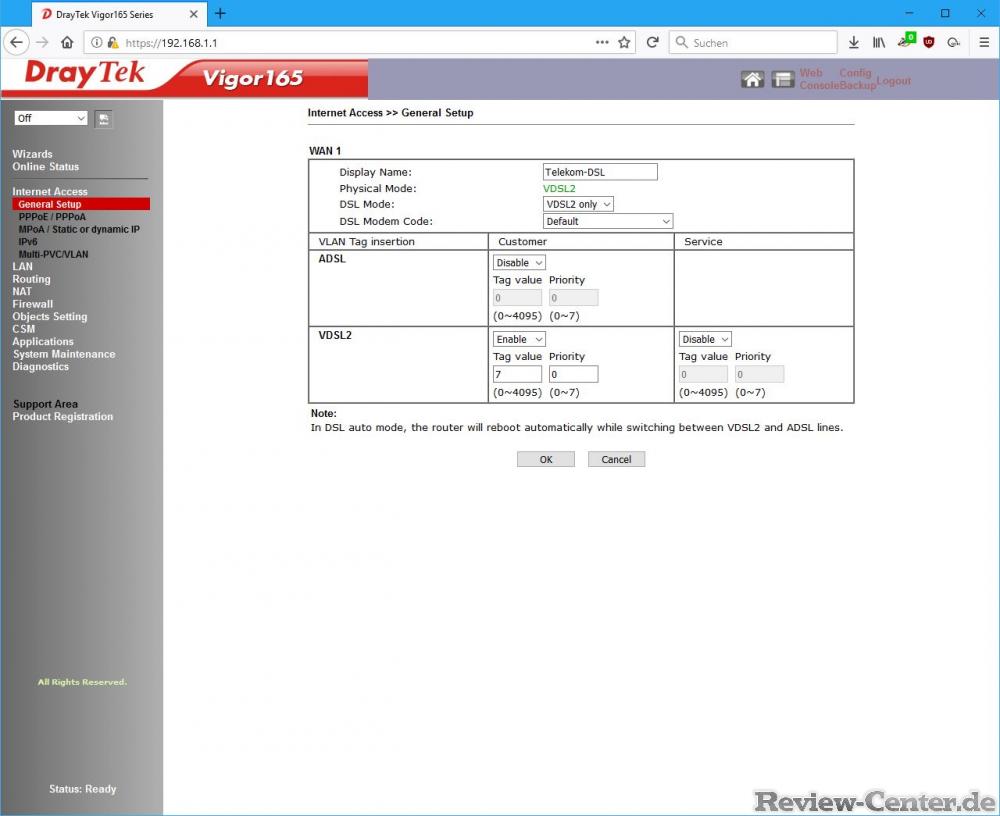Draytek 2860 nbn setup